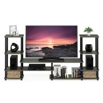 Furinno Turn-N-Tube Grand Entertainment Center (Up To 50 Pounds - TV Stands - french oak grey)