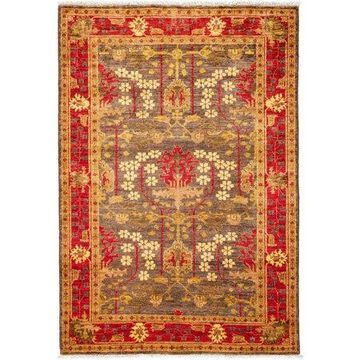 Solo Rugs One-of-a-kind Arts & Crafts Hand-knotted Area Rug 4' x 6'