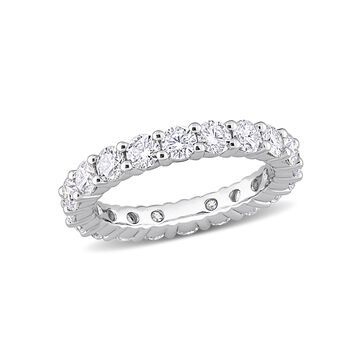 3 Carat T.G.W. Moissanite Sterling Silver Eternity Band