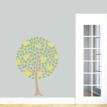 Lemon Tree Wall Decal, Colorful Lemon Tree Wall Art