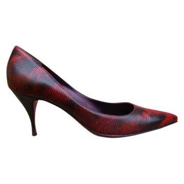 Emanuel Ungaro Red Leather Heels