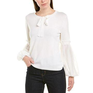 Kobi Halperin Silk-Trim Wool Sweater