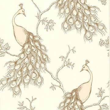 Brewster Peacock Blush Prevost Wallpaper