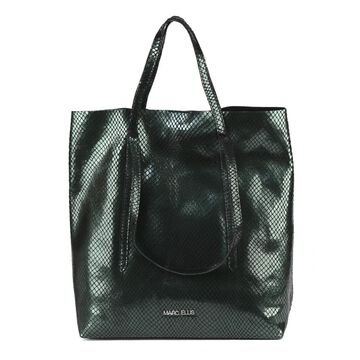 Marc Ellis Black Sevika Bag In Pythoned Leather
