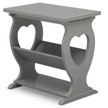 Delta Children Canton End Table/Side Table for the Nursery, Grey
