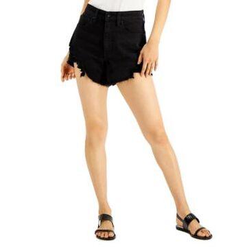 Kendall + Kylie Juniors' High-Rise Ripped Denim Shorts