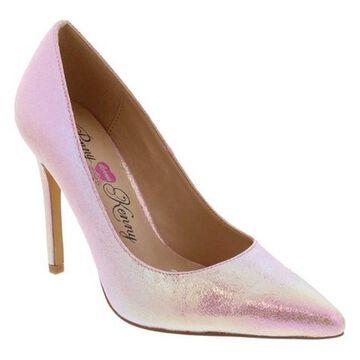 Penny Loves Kenny Women's Ormond Stiletto Pump Pink Iridescent Polyurethane