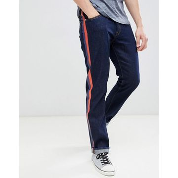 Calvin Klein Jeans straight jeans with side stripes-Blue