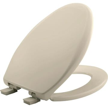 Bemis 1200E4 Affinity Elongated Closed Front Toilet Seat with Soft Close Almond Accessory Toilet Seat Elongated