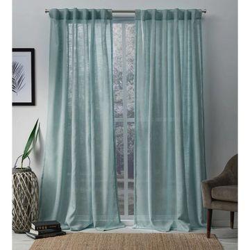 ATI Home Bella Sheer Hidden Tab Top Curtain Panel Pair