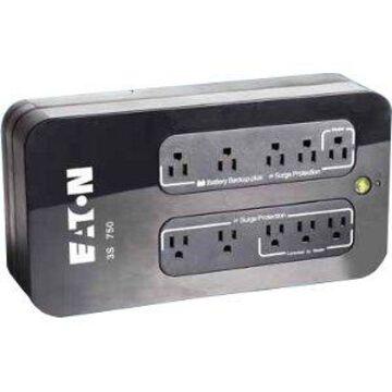 Eaton 3S 550 VA Desktop UPS - 550 VA/330 W - 132 V AC - 3 Minute - Desktop - 3 Minute - 4 x NEMA 5-15R, 4 x NEMA 5-15R