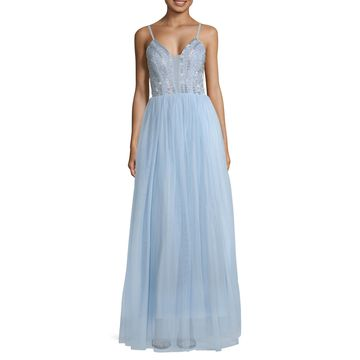 Speechless Sleeveless Embellished Ball Gown-Juniors