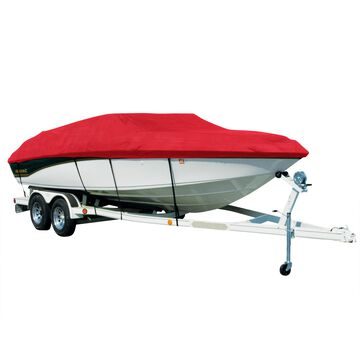 Covermate Sharkskin Plus Exact-Fit Cover for Monterey 234 Fs 234 Fs W/Bimini Laid Down I/O. Red