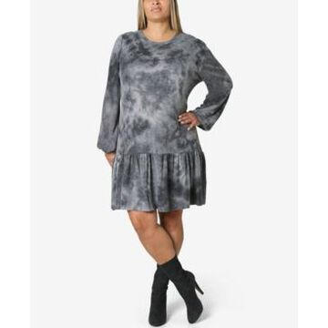 Ultra Flirt Trendy Plus Size Tie-Dyed Dress